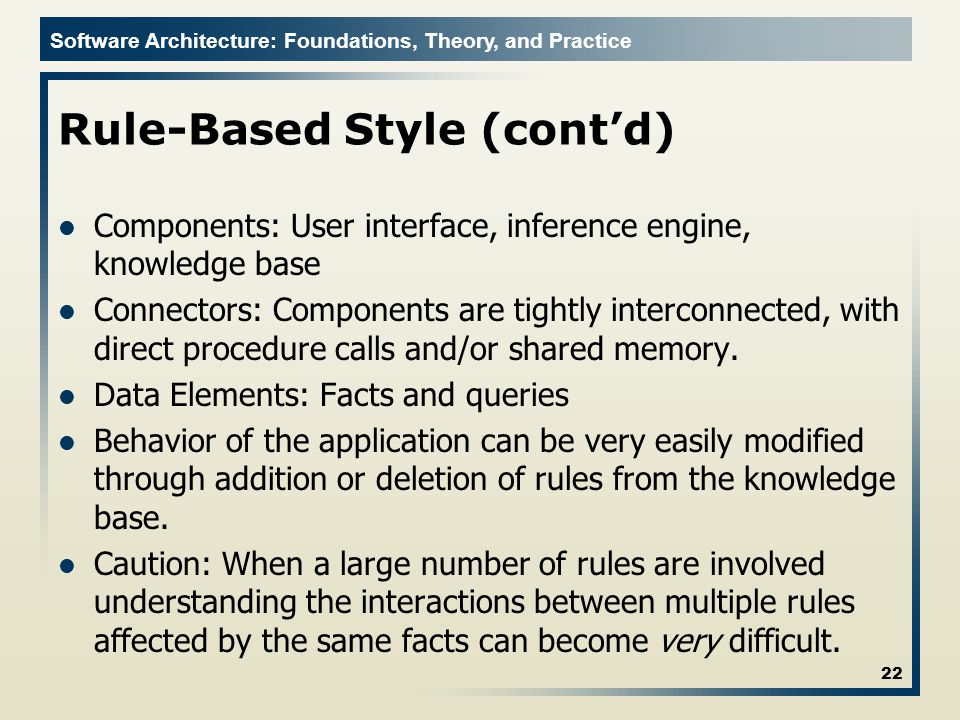 Rule-Based Style (cont'd)