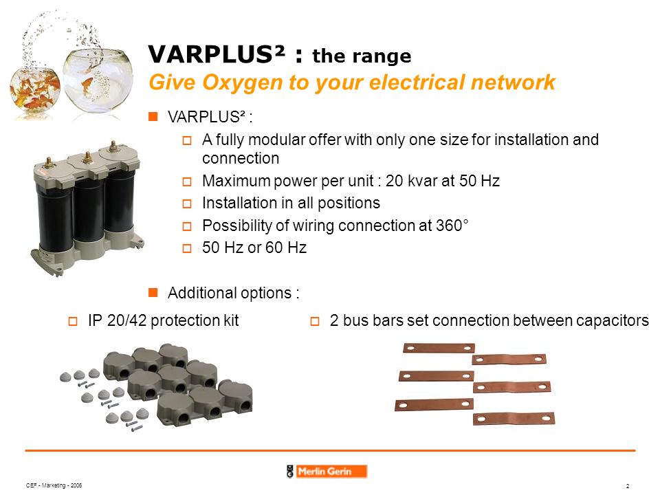 VARPLUS² : the range Give Oxygen to your electrical network
