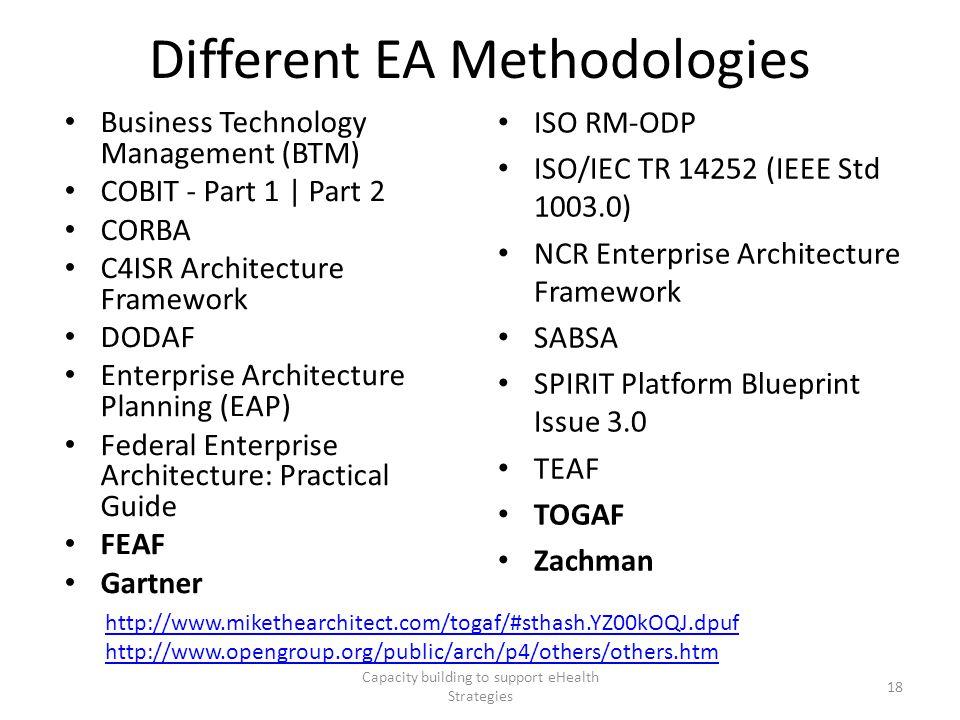 Different EA Methodologies