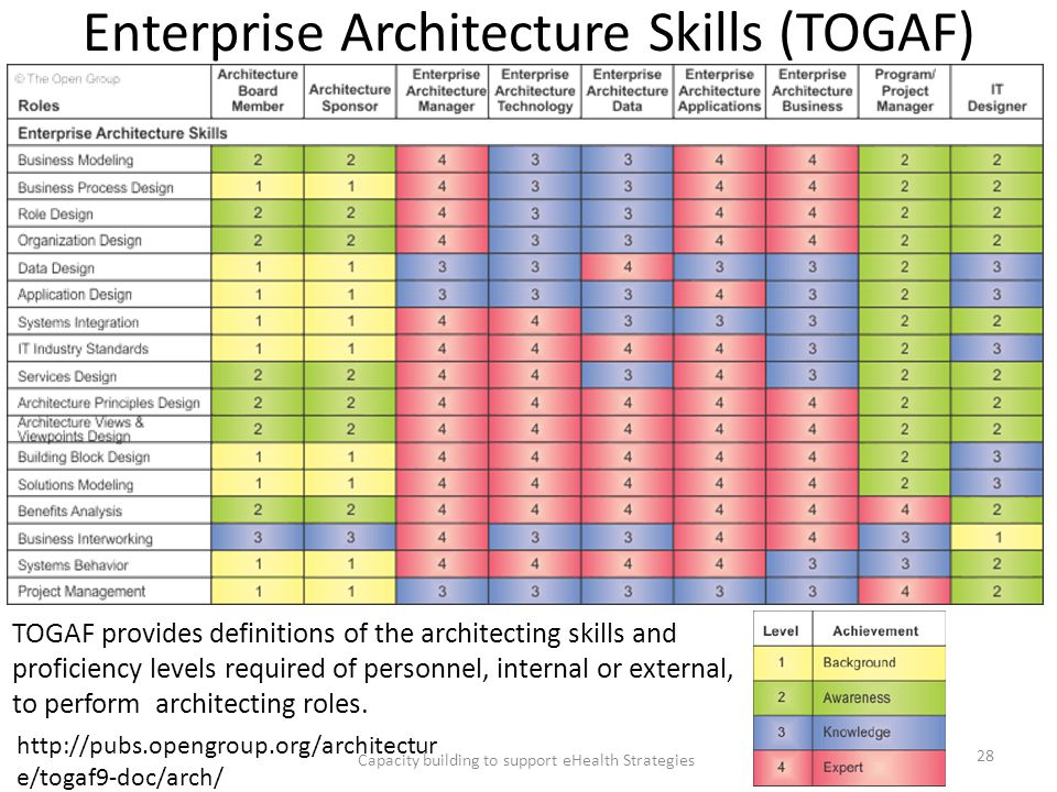 Enterprise Architecture Skills (TOGAF)