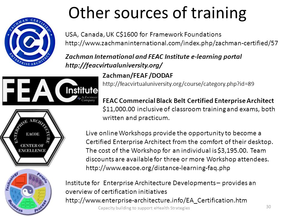 Other sources of training
