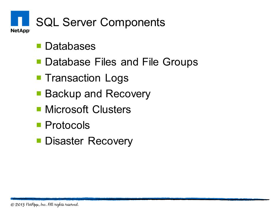 SQL Server Components Databases Database Files and File Groups
