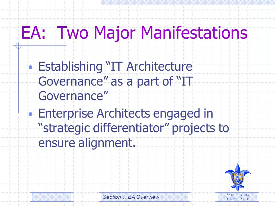 EA: Two Major Manifestations