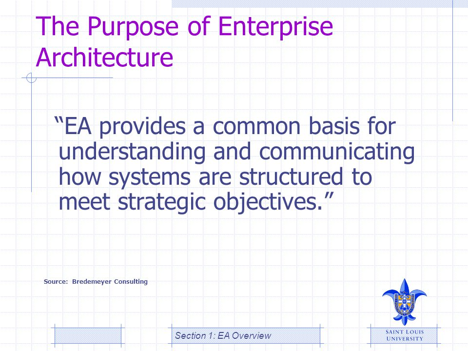 The Purpose of Enterprise Architecture