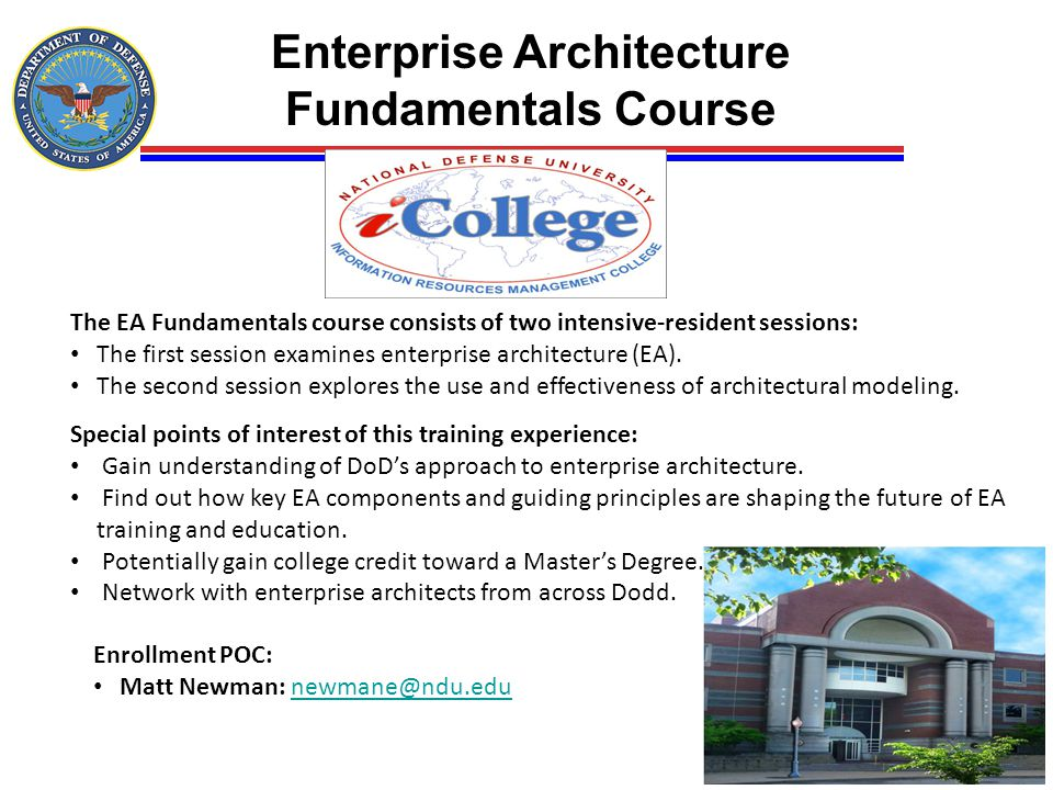 Enterprise Architecture Fundamentals Course