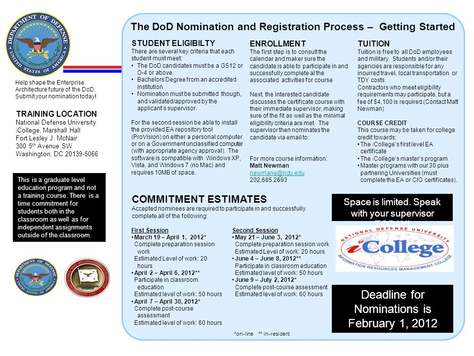 Deadline for Nominations is February 1, 2012