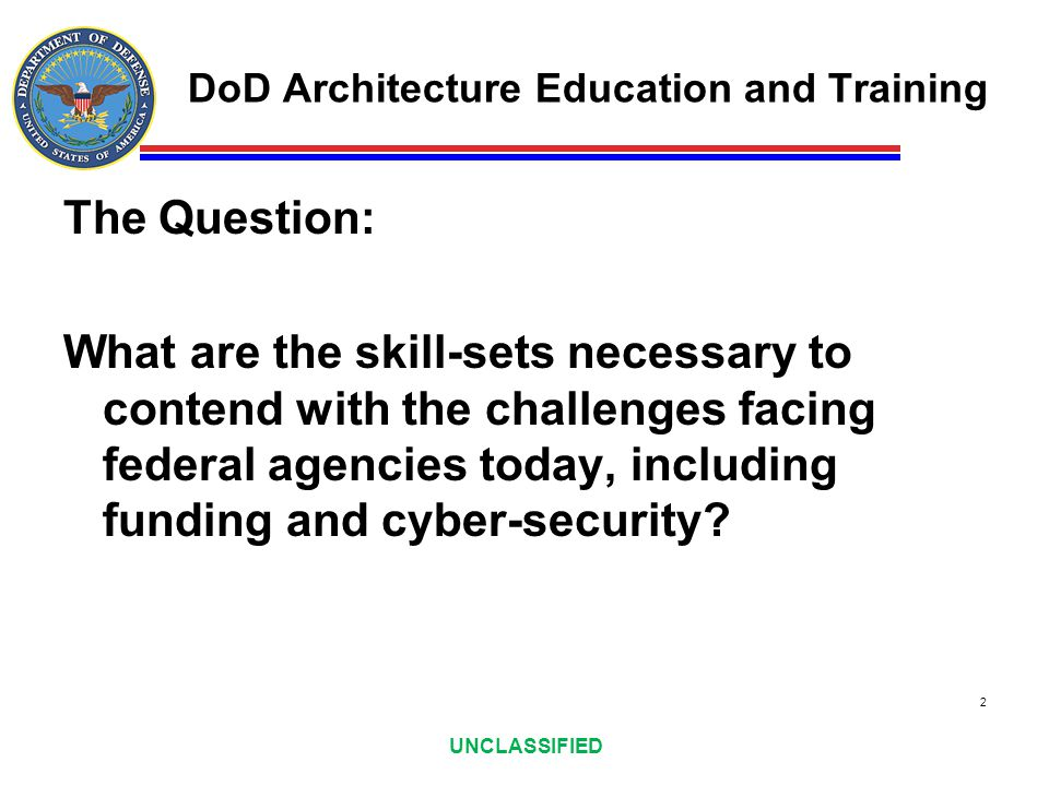 DoD Architecture Education and Training