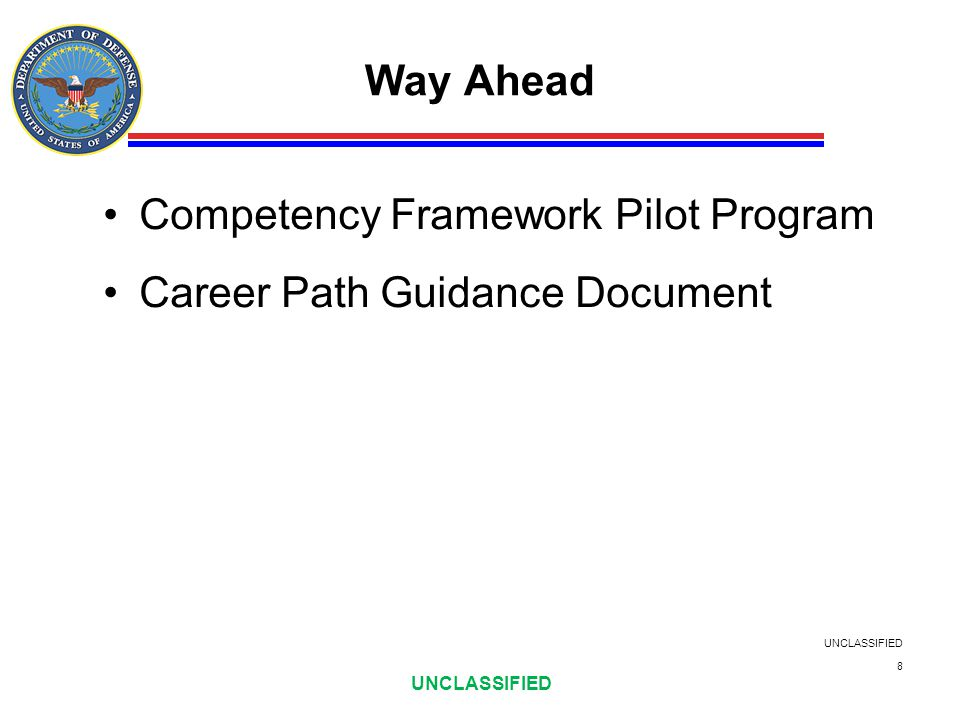 Competency Framework Pilot Program Career Path Guidance Document