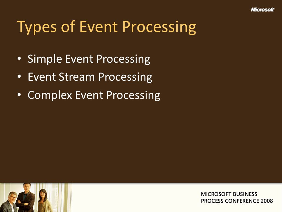 Types of Event Processing