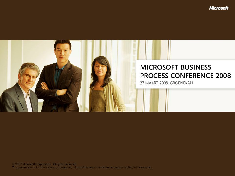© 2007 Microsoft Corporation. All rights reserved.