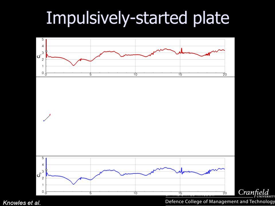 Impulsively-started plate