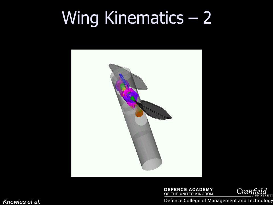 Wing Kinematics – 2 Knowles et al.