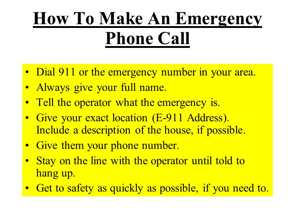 How To Make An Emergency Phone Call