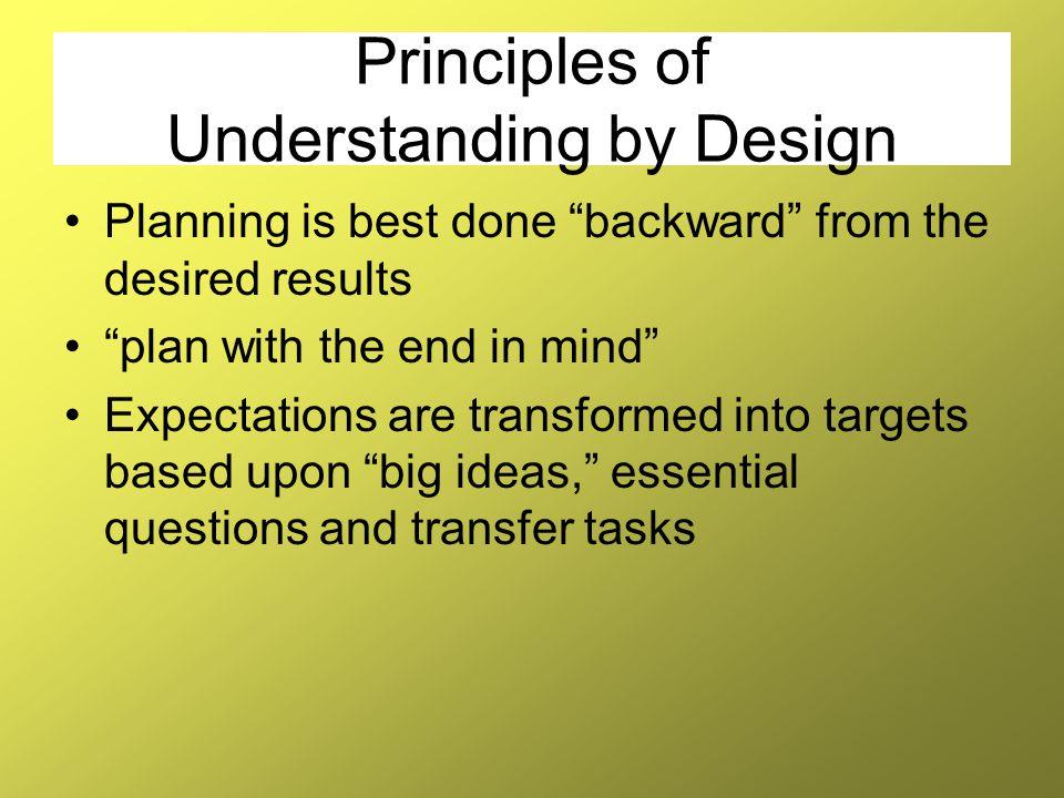 Principles of Understanding by Design