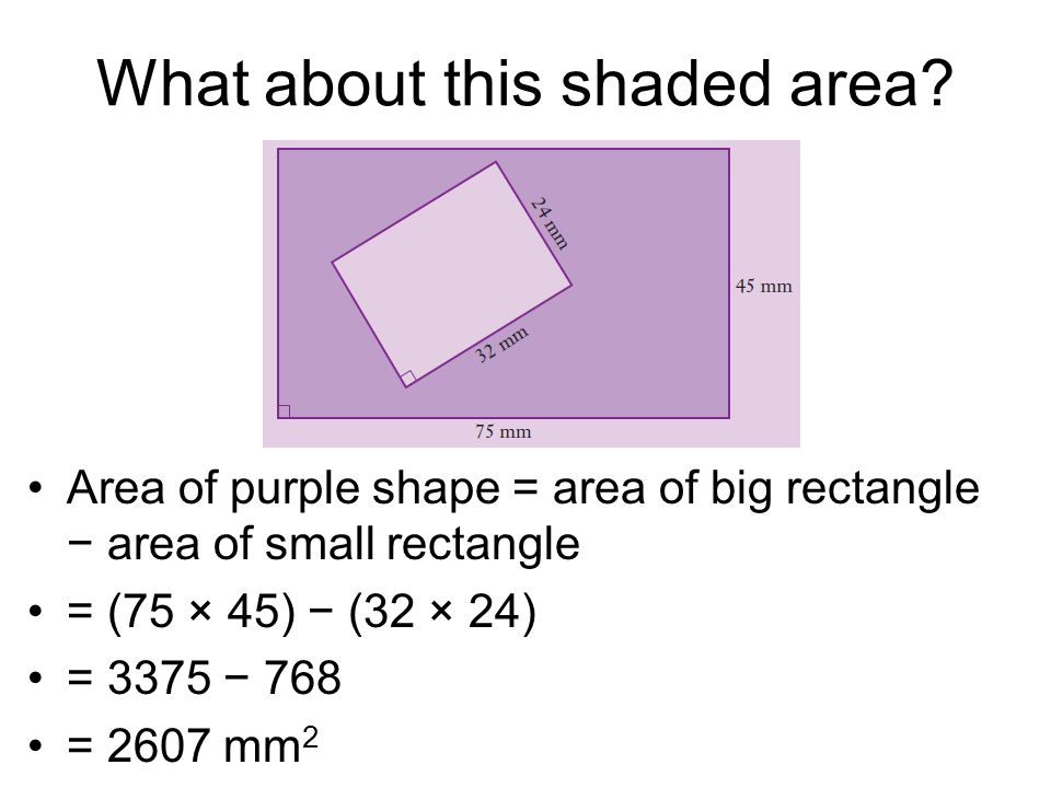 What about this shaded area