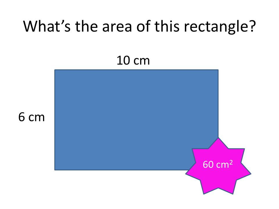 What's the area of this rectangle