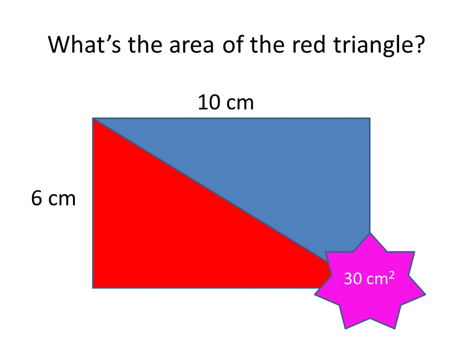 What's the area of the red triangle