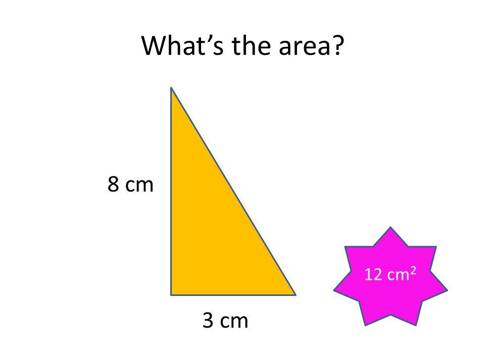 What's the area 8 cm 12 cm2 3 cm