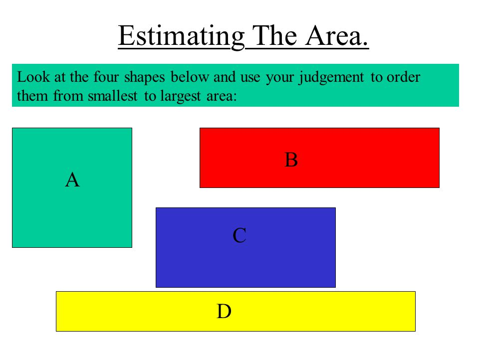 Estimating The Area. B A C D