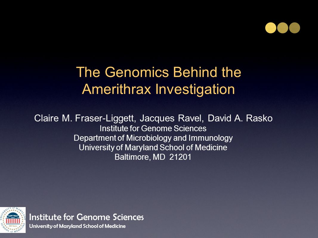 The Genomics Behind the Amerithrax Investigation