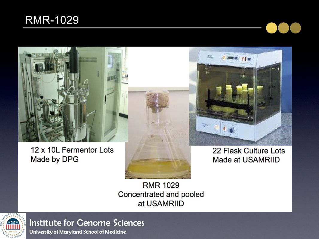 RMR-1029 Institute for Genome Sciences