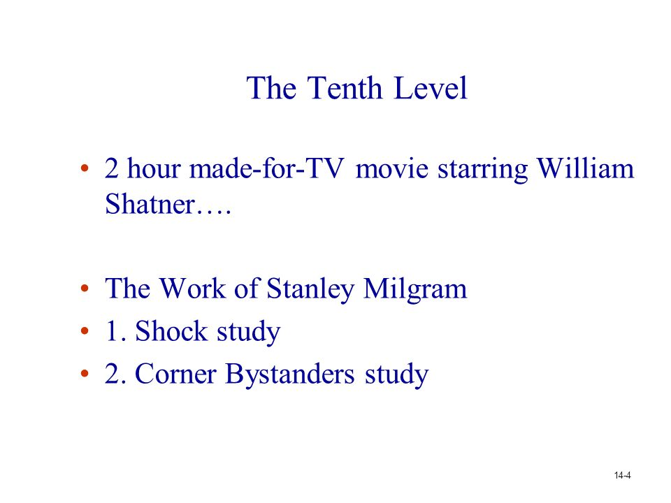 The Tenth Level 2 hour made-for-TV movie starring William Shatner….