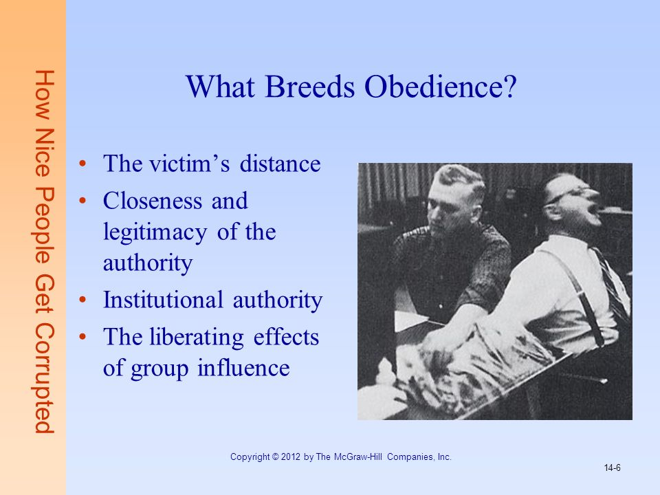 What Breeds Obedience The victim's distance