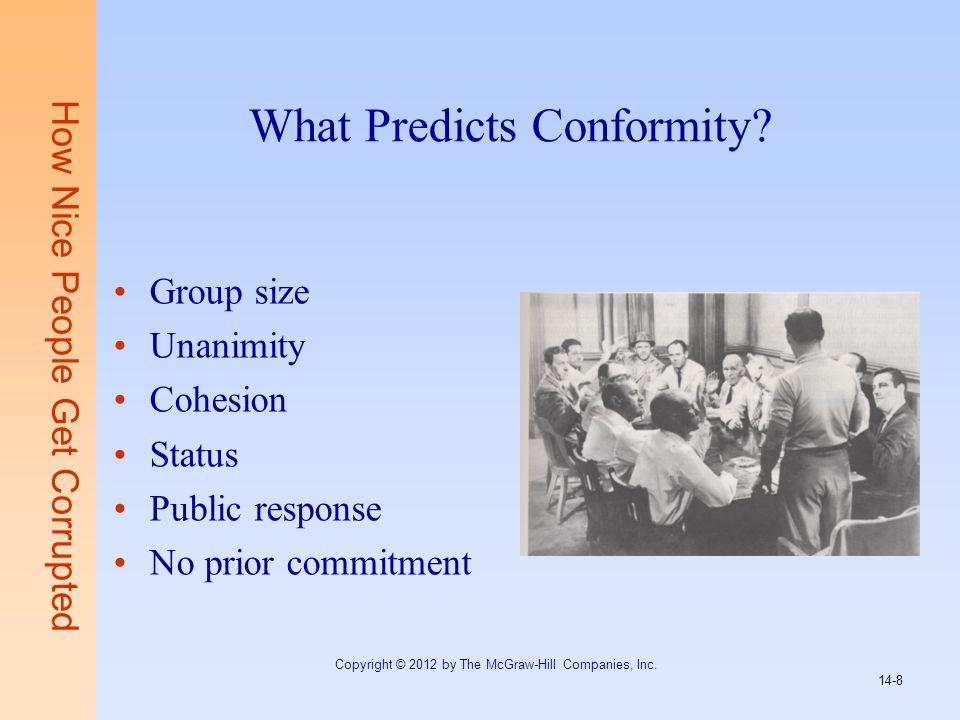 What Predicts Conformity