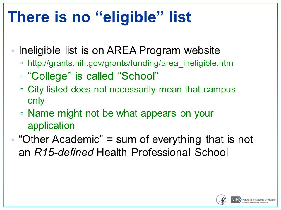 There is no eligible list
