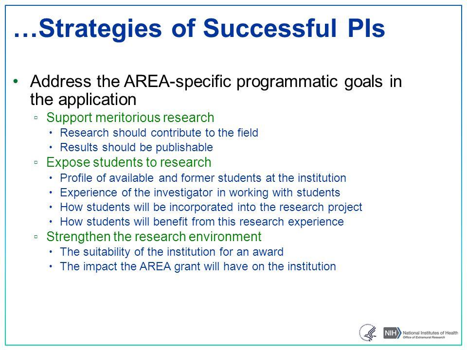…Strategies of Successful PIs
