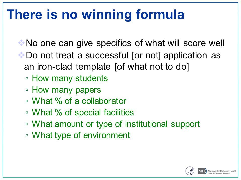 There is no winning formula