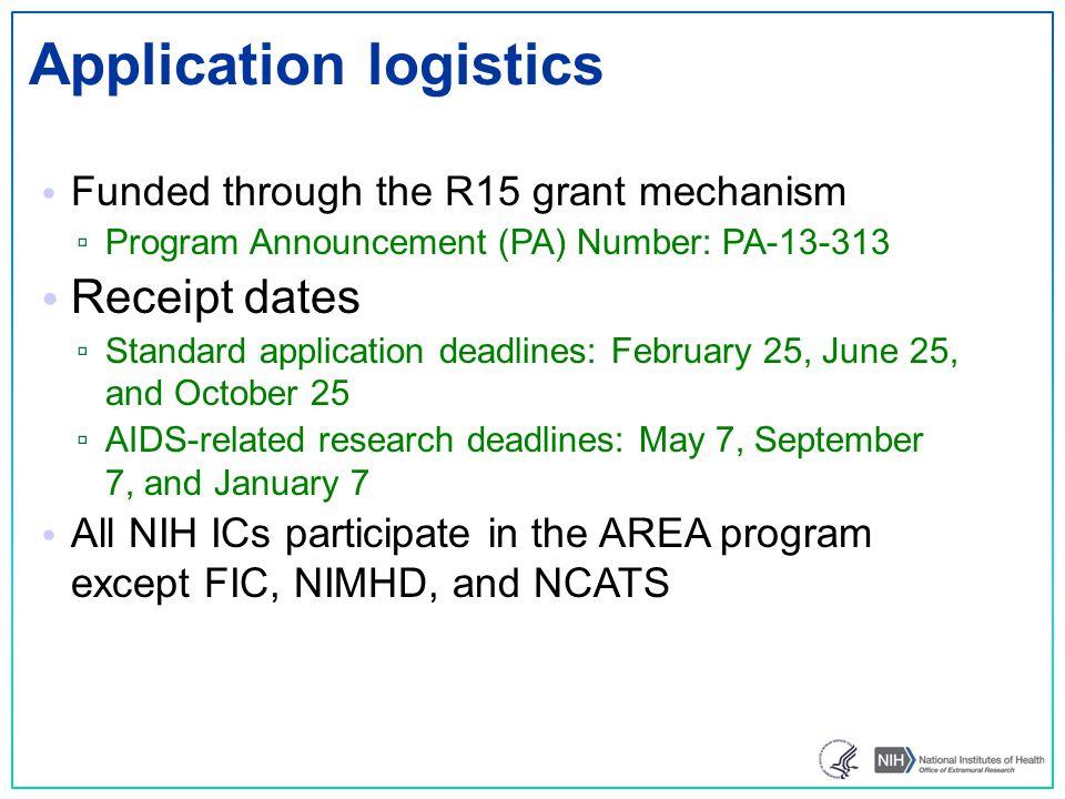 Application logistics
