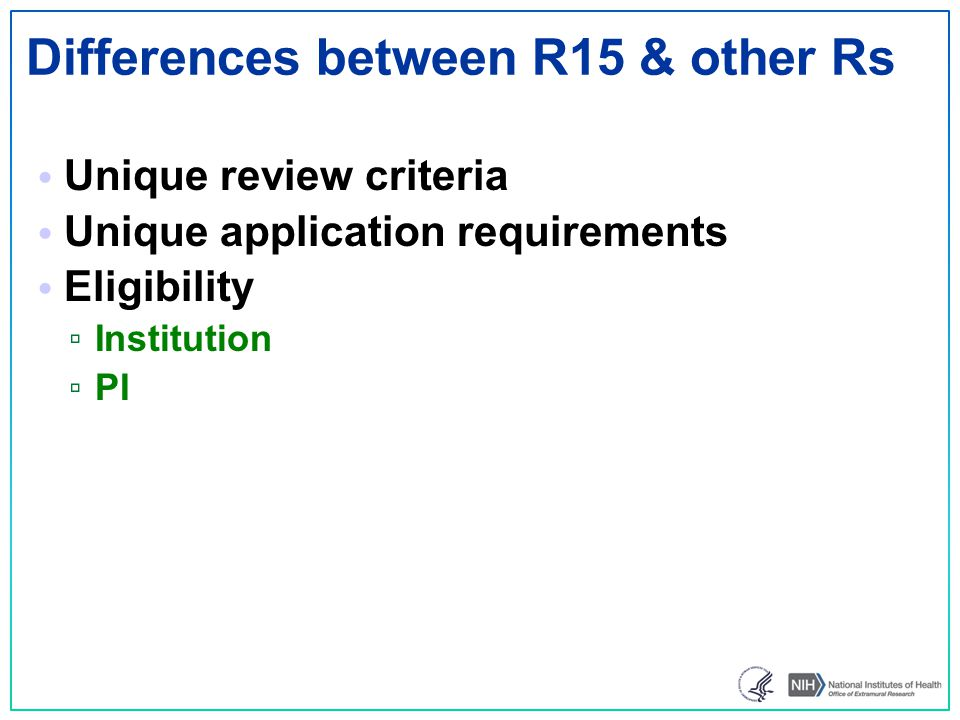Differences between R15 & other Rs