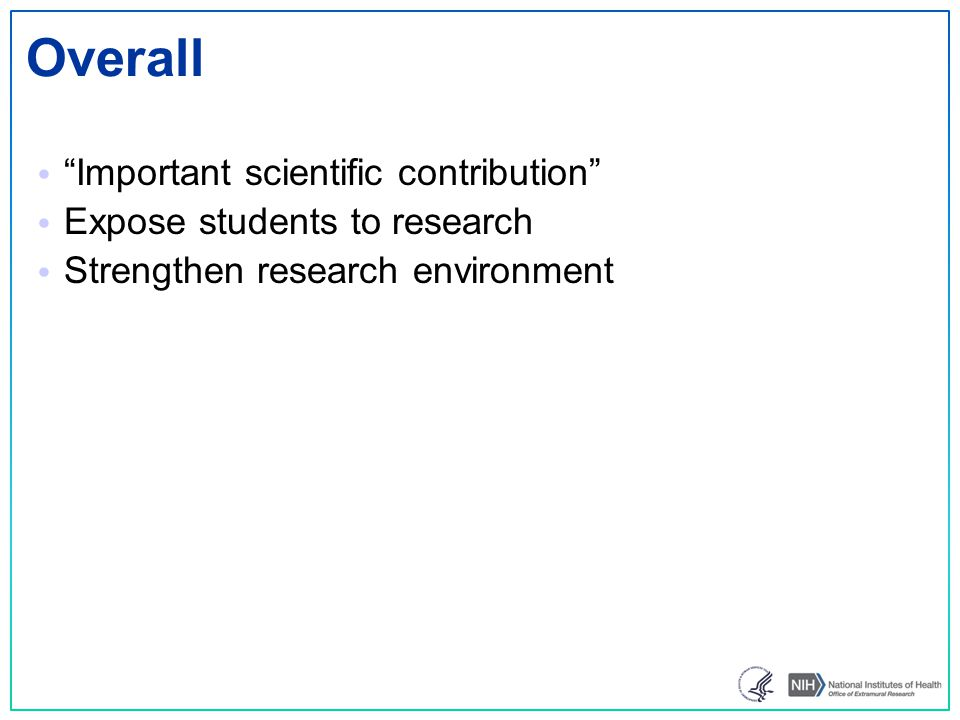Overall Important scientific contribution