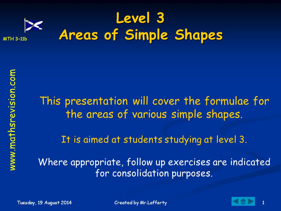 Level 3 Areas of Simple Shapes