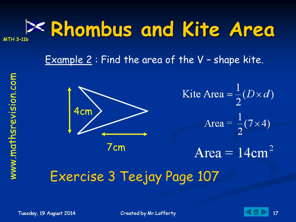 Rhombus and Kite Area Exercise 3 Teejay Page 107