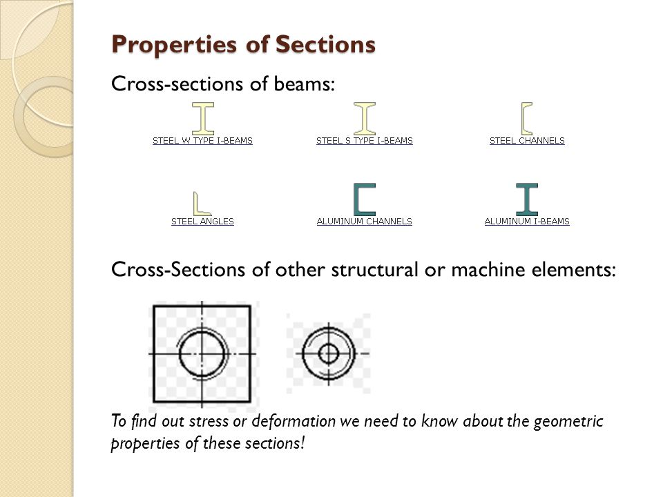 Properties of Sections