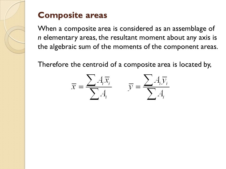 Composite areas