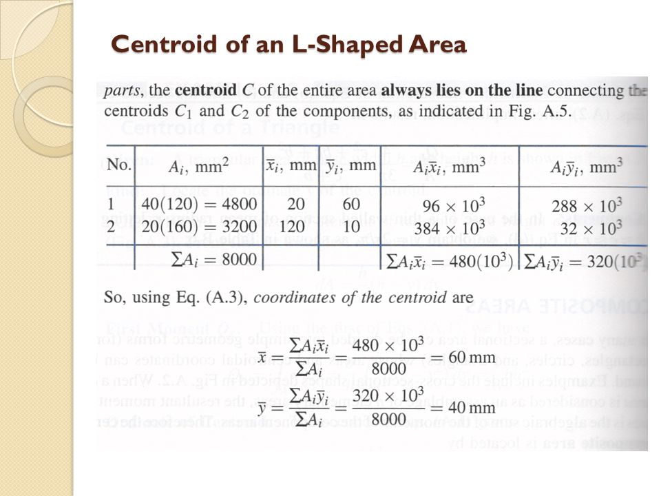 Centroid of an L-Shaped Area