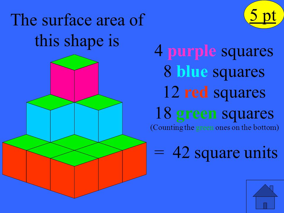 The surface area of this shape is