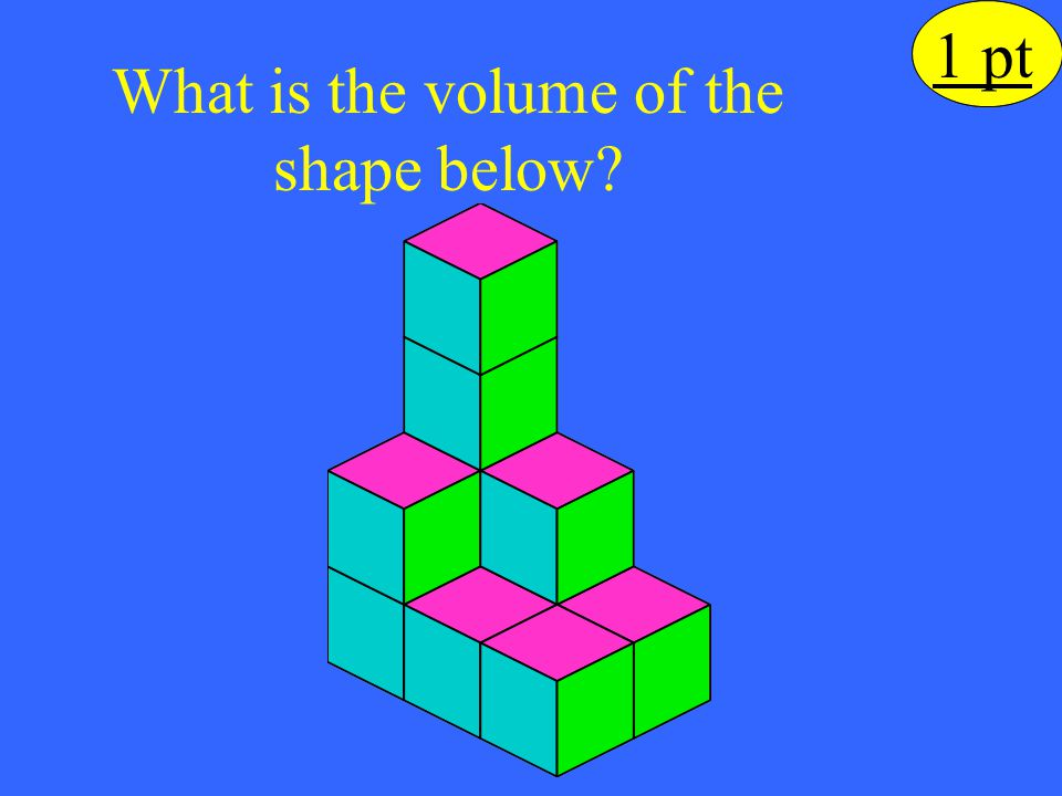 What is the volume of the shape below