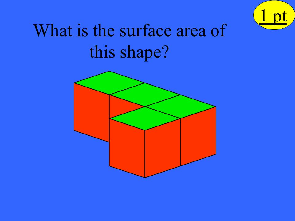 What is the surface area of this shape