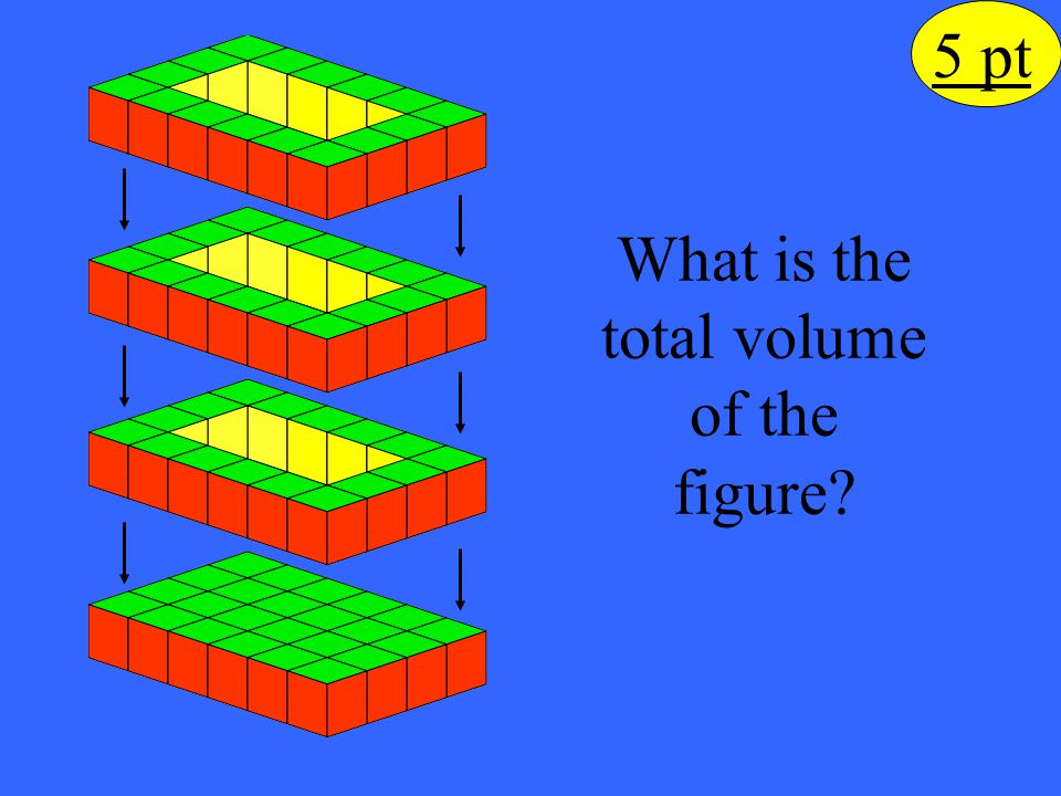 What is the total volume of the figure