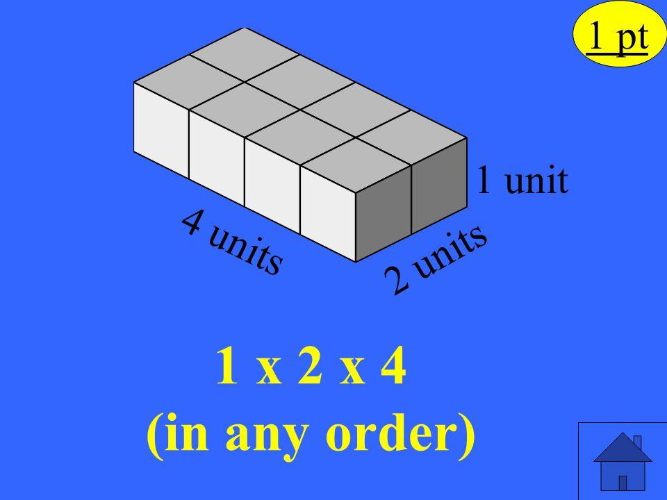 1 x 2 x 4 (in any order) 1 pt 1 unit 4 units 2 units Eleanor M. Savko