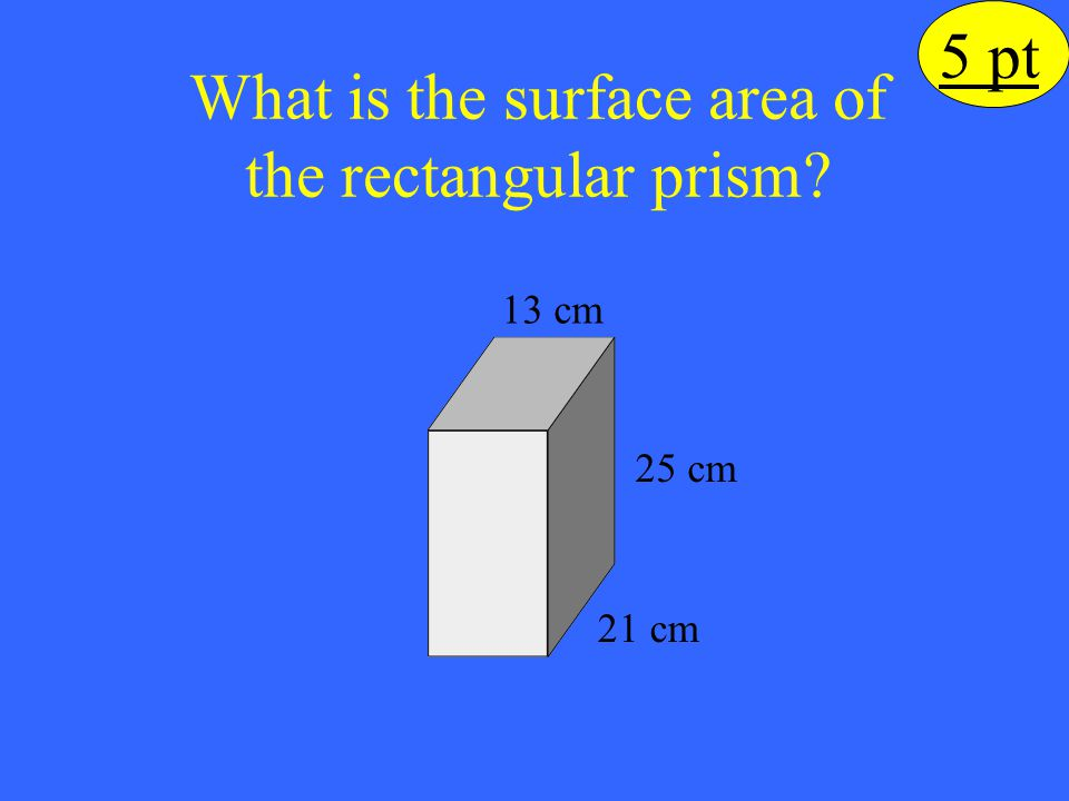 What is the surface area of the rectangular prism