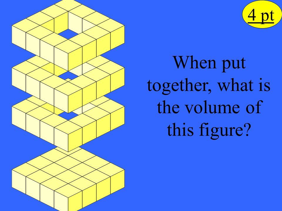 When put together, what is the volume of this figure