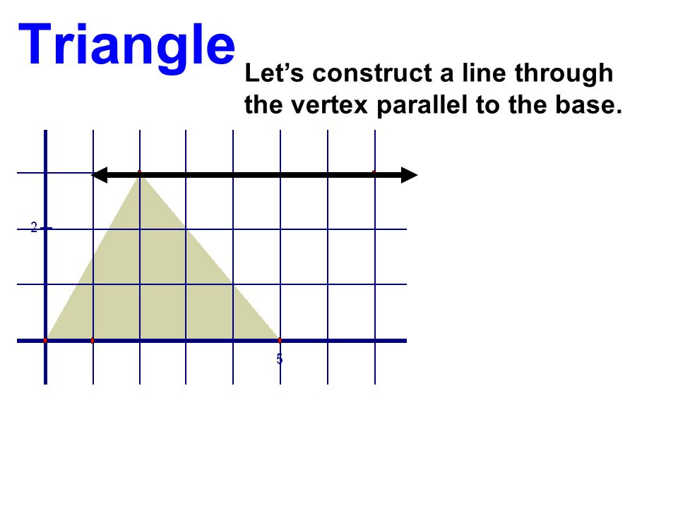 Triangle Let's construct a line through