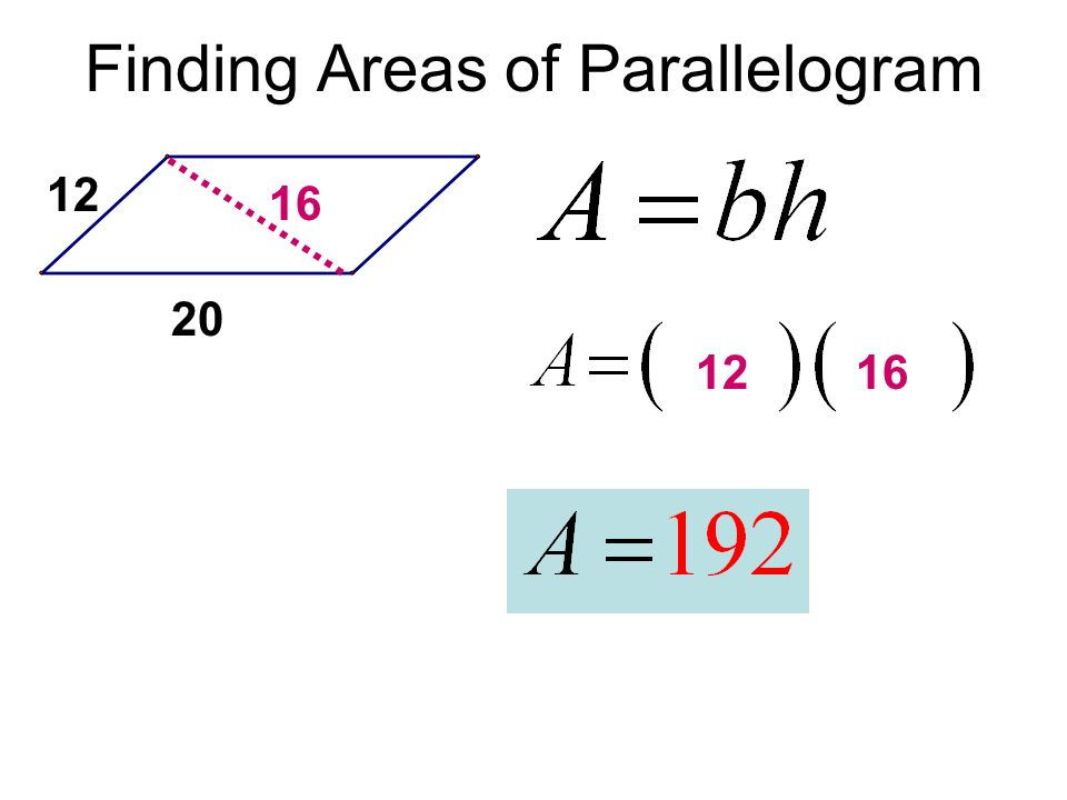 Finding Areas of Parallelogram