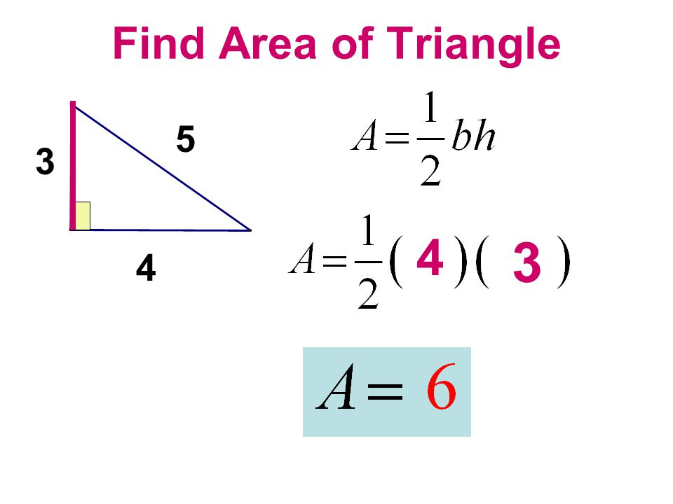 Find Area of Triangle 5 3 4 3 4