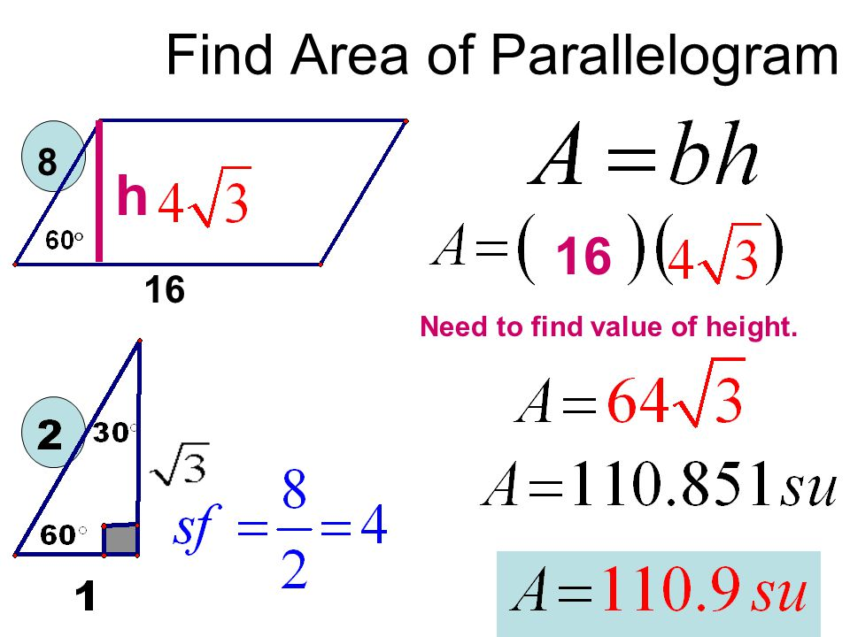 Find Area of Parallelogram